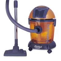 Water filtration vacuum cleaner BHF 3500 with hepa filter  Ergonomic design Accessories: turbo brush, flexible hose (1600 mm.), 2 small brushes, crevice nozzle, metal telescopic pipe