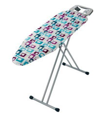 Ironing board BHF-2232 with a special textile cover  Length: 113 cm Width: 34 cm Adjustable height: 60-90 cm