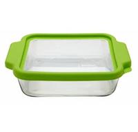 Серия TrueFit Характеристики: Лоток2 л. для выпечки квадратной формы из прозрачного стекла Размеры: 20X20 см Пластиковая крышка, не содержащая бисфенол А