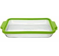 •Серия TrueFit •Характеристики: •Лоток 3 л. для выпечки из прозрачного стекла  •Размеры: 23X33 см  •Пластиковая крышка, не содержащая бисфенол А