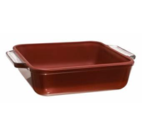 •3 qt. Baking Dish  •Brick red non-stick coating  •Prevents food from sticking  •Easy to clean  •Perfect for oven to table entertaining