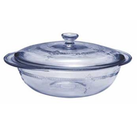 •2 qt. Casserole with glass Cover  •Antique inspired design  •Round corners promote even baking  •Open Stock  •2 each  •Item# 93098W9
